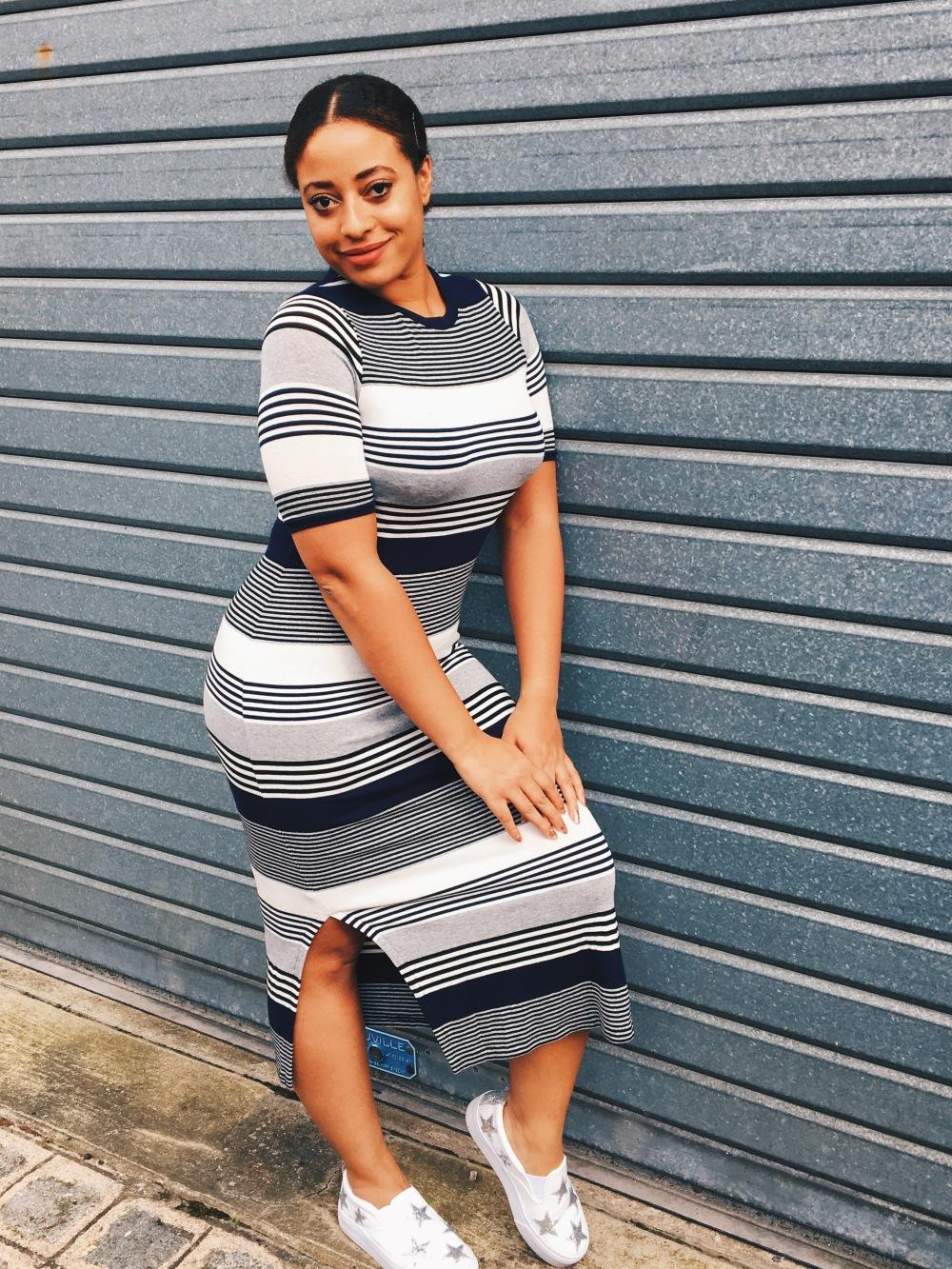 Asos, Fashion, Mode, Stars, Platform Shoes; CiciOnline; Cici Online; dress; stripes;