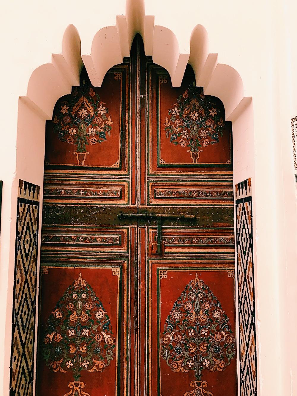 Museum of Marrakech colorful doors