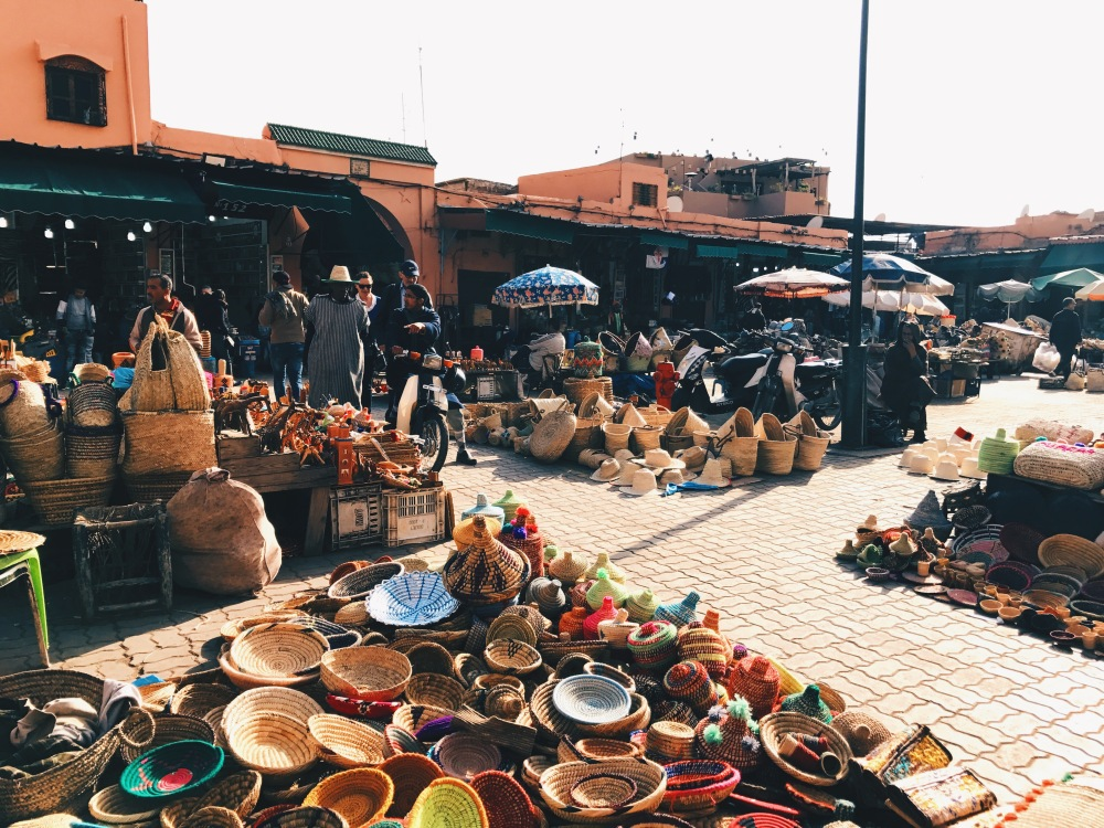 Moroccan basket market