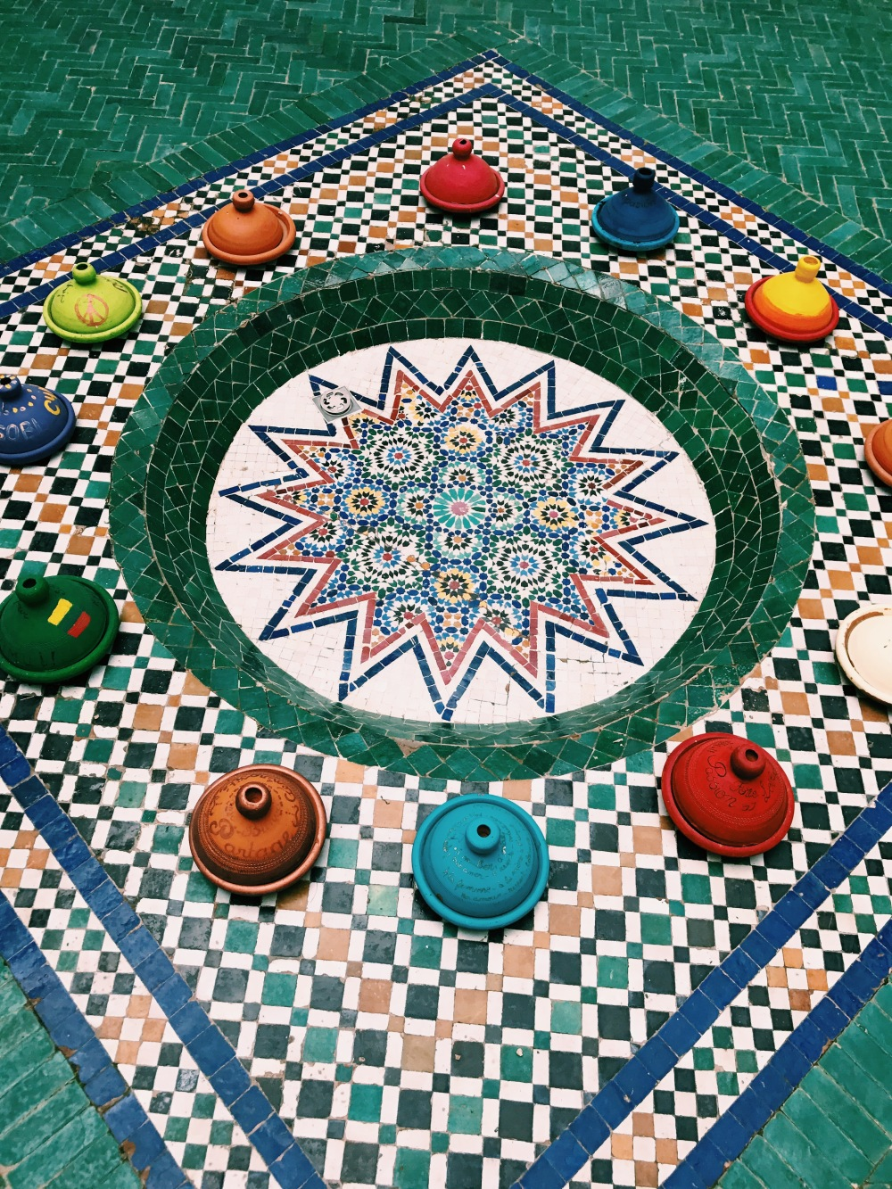 Museum of Marrakech colorful tiles