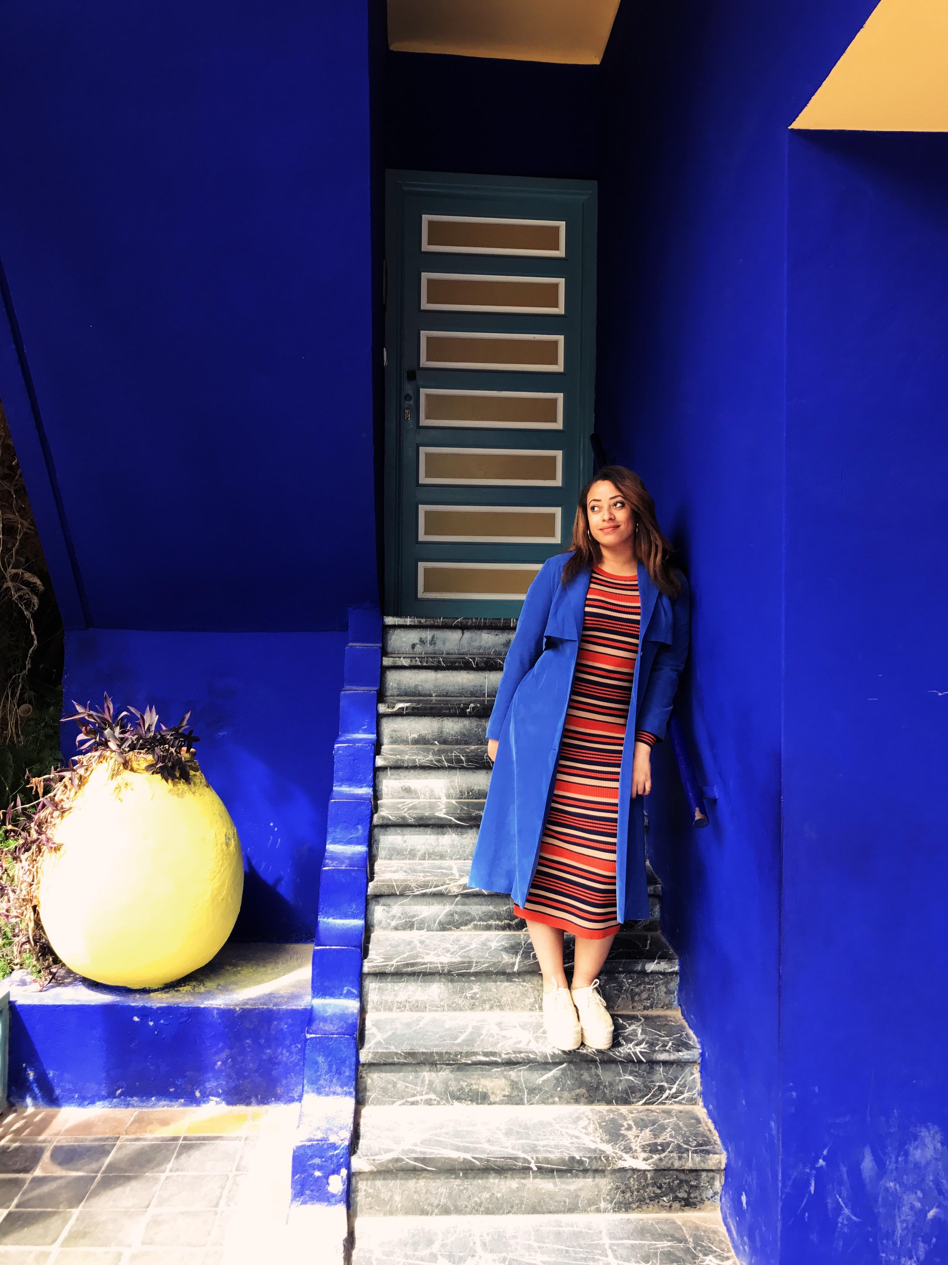 Jardin Majorelle - Marrakech - stripes - flowers- tile